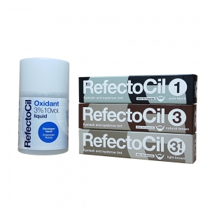 Kit vopsea sprancene si gene cu oxidant + 3 buc culori favorite - Refectocil