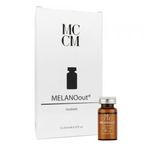 Fiola cocktail Melano cu efect de albire - 10 ml x 5 buc - cutie - MCCM
