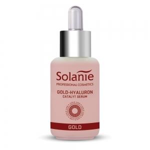 Ser aur cu acid hialuronic - 30 ml - Solanie