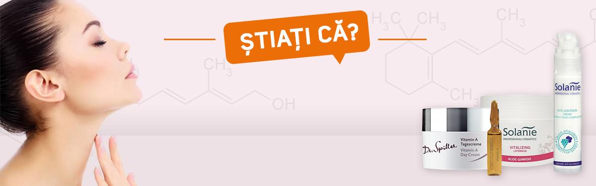 Stiați că? Vitamina A continuă să rămână cel mai puternic remediu antiaging, antibacterian si  antipigmentare.