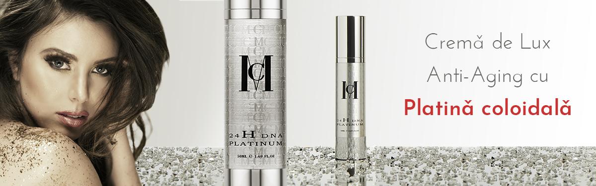 Cremă de Lux Anti-Aging cu Platină coloidală - MCCM Medical Cosmetics