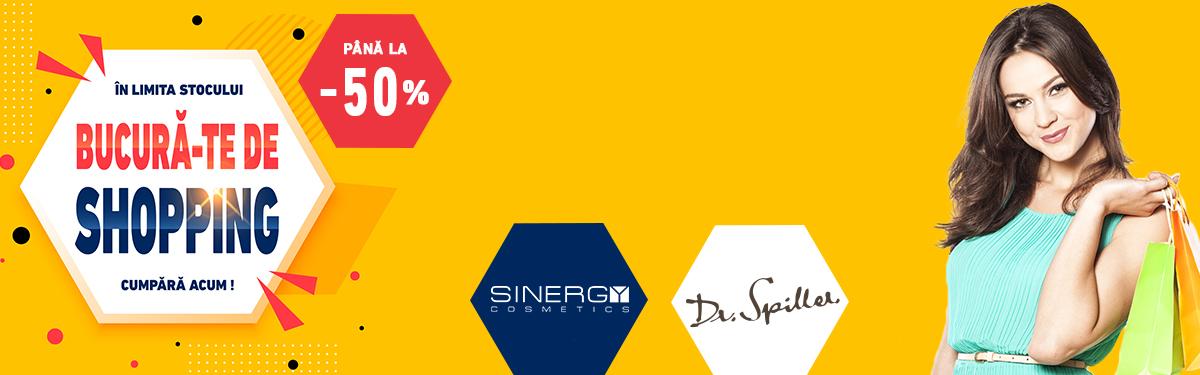 Bucura-te de reduceri  - Pana la -50% la Dr Spiller si Sinergy