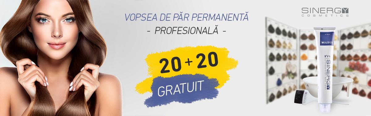 Vopsea de păr Profesională: 20 + 20 GRATUIT