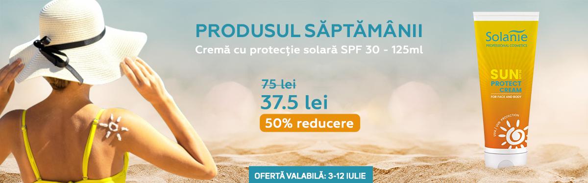 Crema de protectie solara pentru fata si corp SPF 30 - 125 ml - Solanie cu -50% reducere