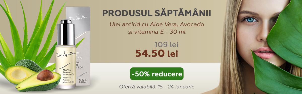 Ulei antirid cu Aloe Vera, Avocado si vitamina E - 30 ml - Dr Spiller cu -50% reducere