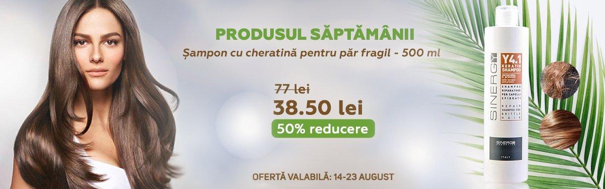 Sampon cu cheratina pentru par fragil - 500 ml - Sinergy cu -50% reducere