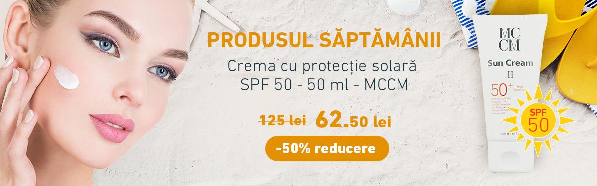 Crema cu protectie solara SPF 50 - 50 ml - MCCM cu -50% reducere
