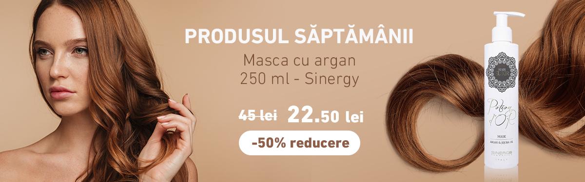 Masca cu argan - 250 ml - Sinergy cu -50% reducere