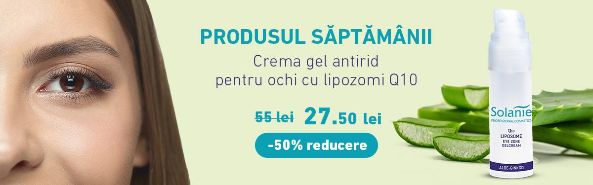 Crema gel antirid pentru ochi cu lipozomi Q10 - 15 ml - Solanie cu -50% reducere